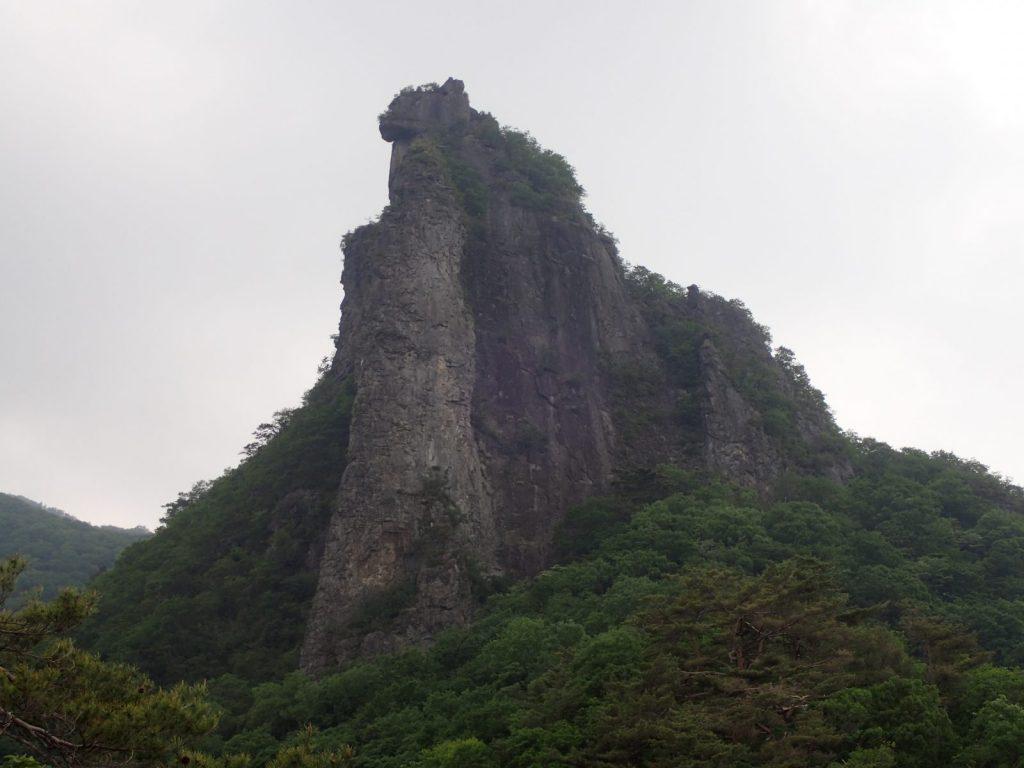 子持山 獅子岩 正面壁